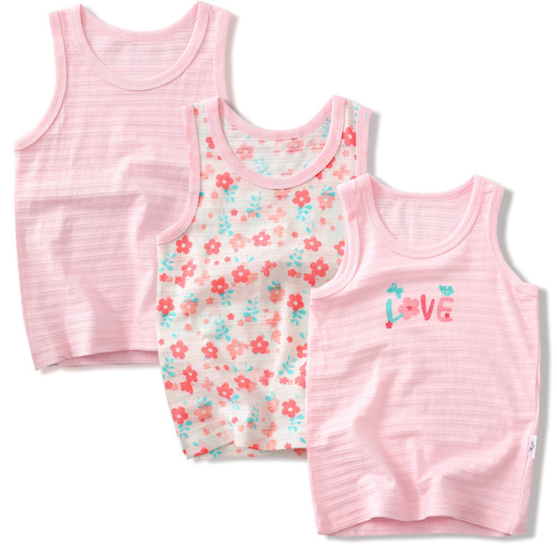 VIDMID Baby Girls Vest Undershirts Kids Cotton Underwear Summer Children  Beach Clothing girls sleeveless tank 4086 01|Tees| - AliExpress
