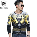 Fire Kirin T-shirt Men 2017 Slim Fit Long Sleeve Men Tshirt Luxury Brand 3D Tee Shirt Homme Hip Hop Camisetas Rock Hombre T465