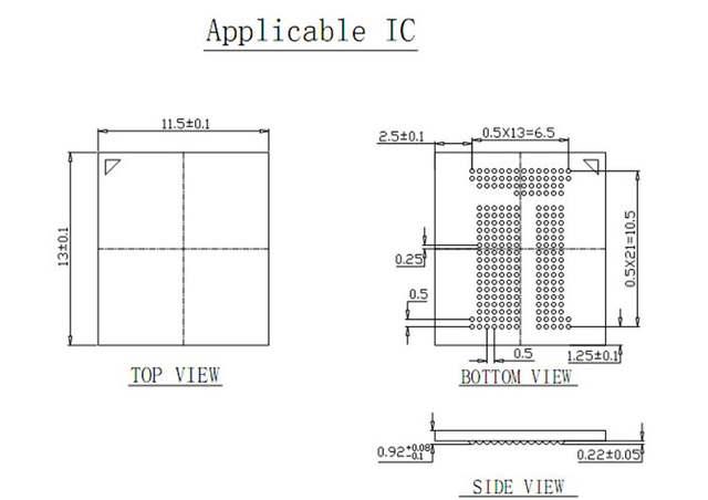 US $130 0 |BGA 221 eMCP 221 Clamshell Programmer Adapter to SD test socket  Programming a flat font data read BGA221 eMCP221 Size 12x16mm-in Integrated