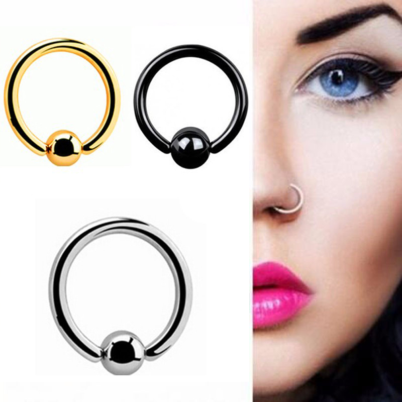 3 teile los edelstahl captive bead ring bcr lippen nase ohr tragus septum ring punk bcr piercing. Black Bedroom Furniture Sets. Home Design Ideas