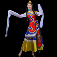 Mongolian costume clothes Chinese folk dance costumes clothing dress stage dance wear performance Mongolian dress DD1959