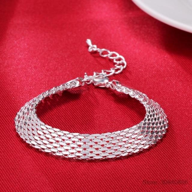LEKANI Women's Fashion bracelet 925 sterling silver soft watchband charm bracelet & bangles fine jewelry Pulseiras de Prata 2