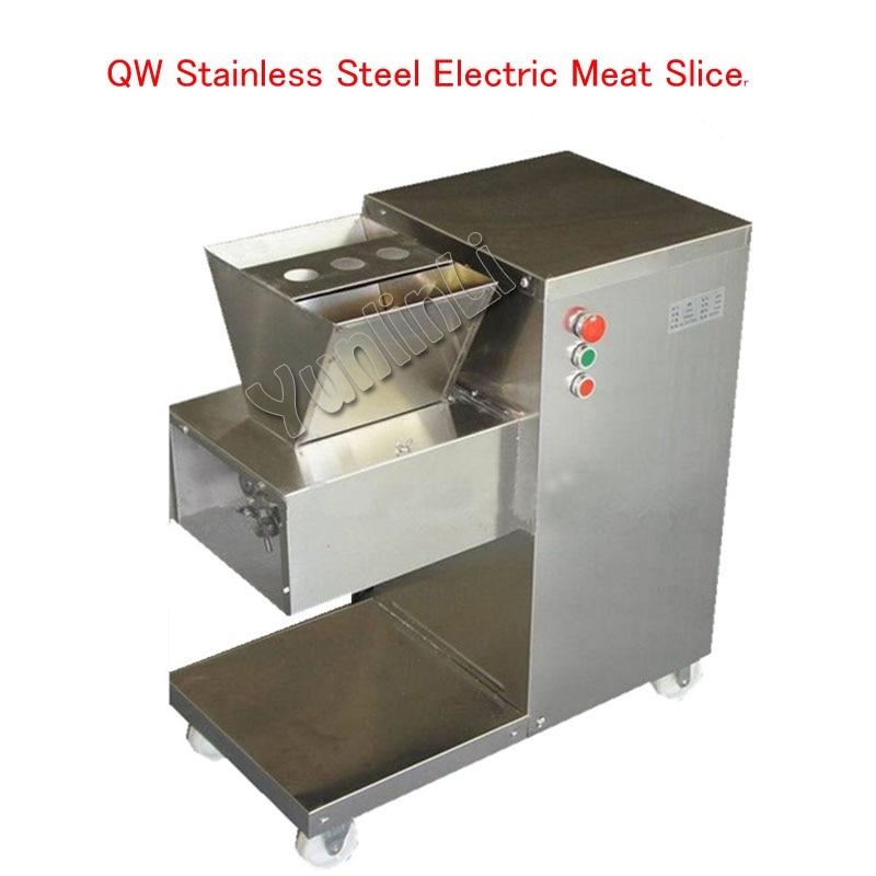 QW нержавеющая сталь мясо ломтерезка электрическая мясорубка 800 кг/ч мясо резка машина с 1 лезвием машина для приготовления пищи