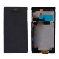 LCD Screen For SONY Xperia Ultra Z1 lt39i / lt39 /l39h c6903 DIGITIZER TOUCH SCREEN Replacement Parts Assembly Frame + Adhesive