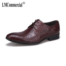 Business Mens Shoes Laces all-match cowhide Genuine Leather male Dress High Quality designer shoes men high quality
