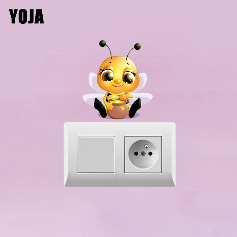 YOJA Cartoon Home Decor Little Bee Wall Sticker PVC Decal 12SS0021(China)
