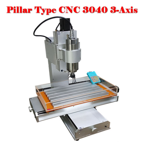 Super quality cnc metal cutting machine 3040 3axis wood router with 2200w spindle + water tank cnc 5axis a aixs rotary axis t chuck type for cnc router cnc milling machine best quality