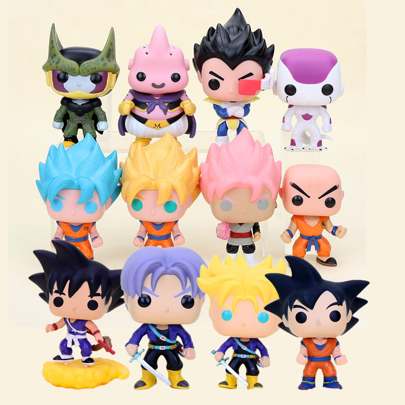 Toys & Hobbies 10cm Dragon Ball Z Action Figure Super Saiyan Son Goku Black Vegeta Cell Freeza Buu Pvc Figures Dbz Model Toys Dragon Ball Super