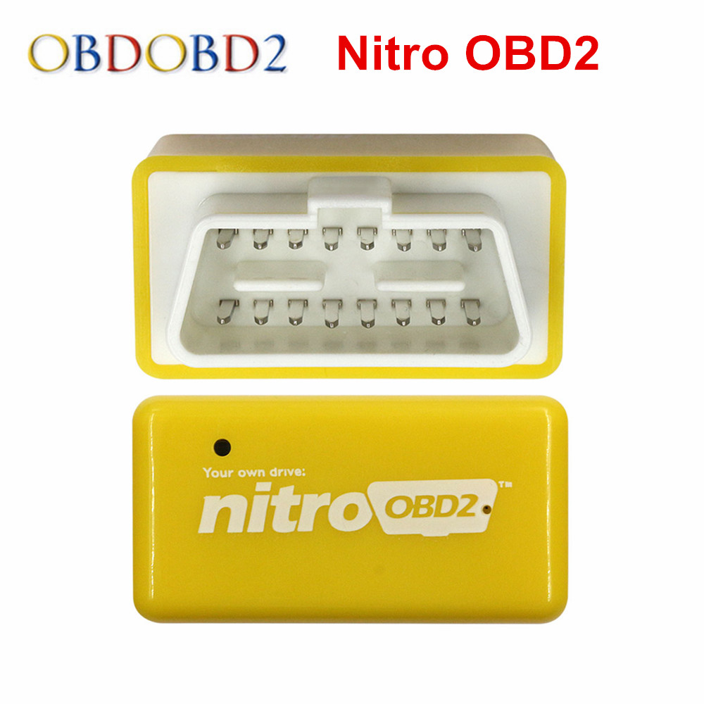 Newest Nitro OBD2 Diesel Gasoline Chip Tuning Box Plug And Drive NitroOBD2 For Diesel Car More Power / More Torque Free Shipping