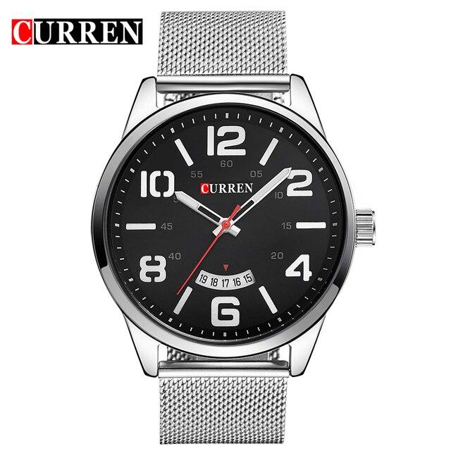Curren Relojes de Los Hombres Superiores de la Marca de Lujo de la Vaca de Cuarzo Relojes Deportivos Relojes de Los Hombres A Prueba de agua Relogio Heren Hodinky 8236