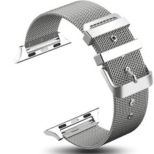 New Fashion Milanese Apple Watch Band 38mm 40mm 42mm 44mm Stainless Steel Woven Mesh Belt Watchband for iWatch 1 2 3 4 5