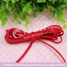 5mm Tiny Elastic Nylon Thread 100 yards/roll  #92109 red color, skinny elastic ribbon for DIY hair band accessaries
