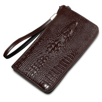2016 Alligator Top Cow Genuine Leather Wallets For Men Crocodile Pattern Purse Exquisite Fashion Design Clutch