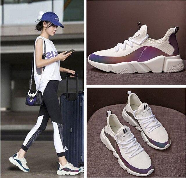 KRIATIV 2019 חדש האיחוד האירופי 27-43 ילד מזדמן נעל שרוכים ילדים נעלי לילדה מעצב תלמיד סניקרס קיץ ילדה לנשימה שחור