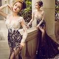 Сексуальная певица перспектива костюм мода выпускного вечера выступления одежда сценический костюм для женщин танцоров певица танец наряд