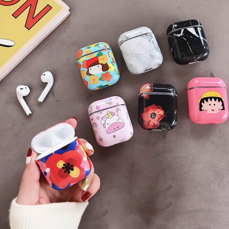 for AirPods Cute Cartoon Bluetooth Wireless Earphone Cover For AirPods Protective Hard Case for Apple Airpods Headset Bags case