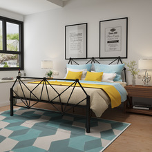 Beds Home Furniture  iron bed single/double bed  wholesale multi size 1.5*1.9cm/1.2*1.9cm can customize 2017 black / wihte color