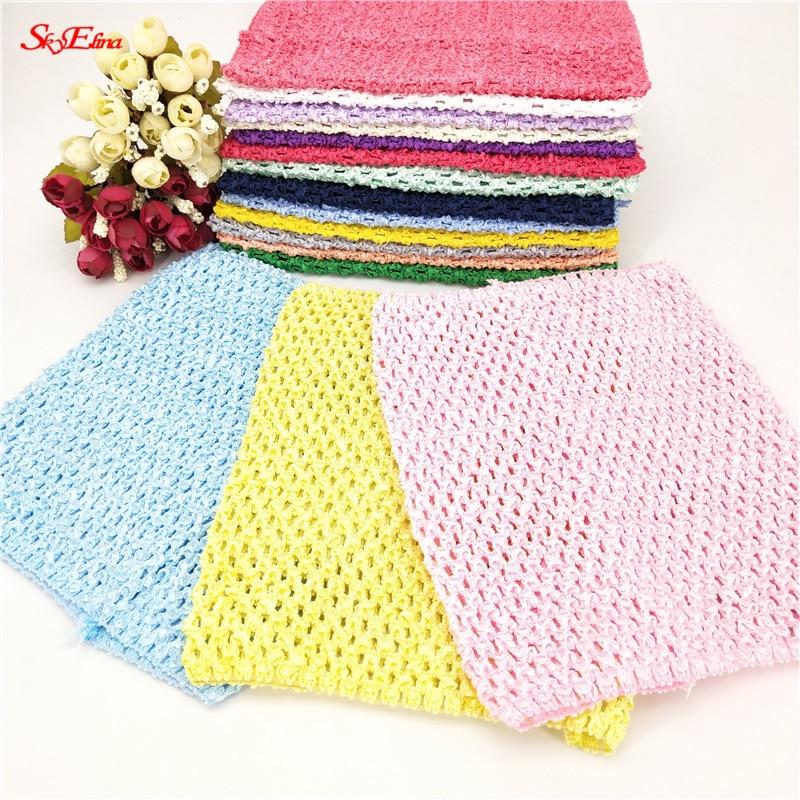 9/6 Inches Children Handmade Wrapped Chest Elastic Baby Girl Crochet Tutu Tube Tops Wide For DIY Knitted Skirt 5Z