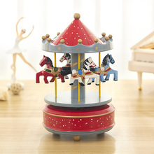 Castle In The Sky музыкальная карусель коробка вершинная зонтик заводная Музыкальная шкатулка Творческие деревянные поделки подарки дома настольные украшения