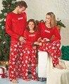Семейные Рождественские Пижамы Новый Год Женщины Мужчина Дети XMAX Семьи Матч Одежда Пижамы Пижамы Костюм Красный Cotoon Пижамы Набор