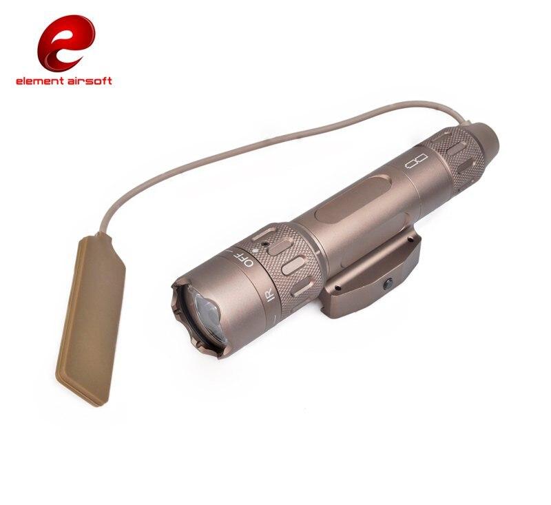 Elemento airsoft luz tática PEQ-15 ir luz