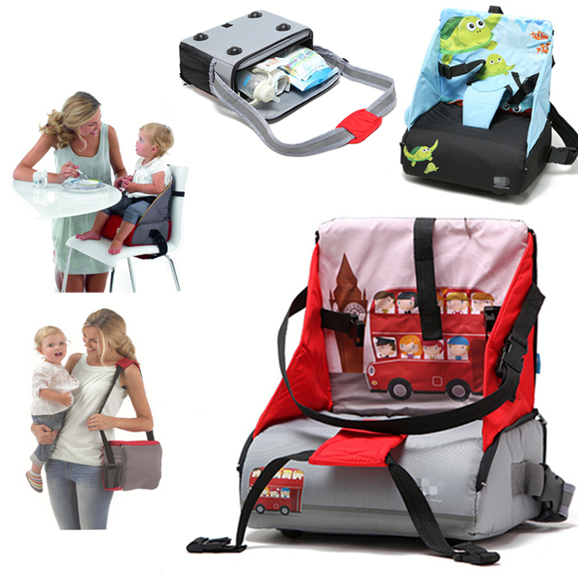 Multifunctional Mummy Bag Portable Folding Booster Seats Baby High Chair  Child Safety Chair Diaper Bag