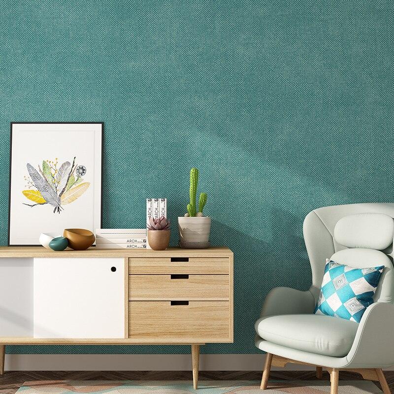 Papier peint nordique couleur unie lin décor à la maison gris vert violet papier peint rouleau pour salon chambre murs papier peint