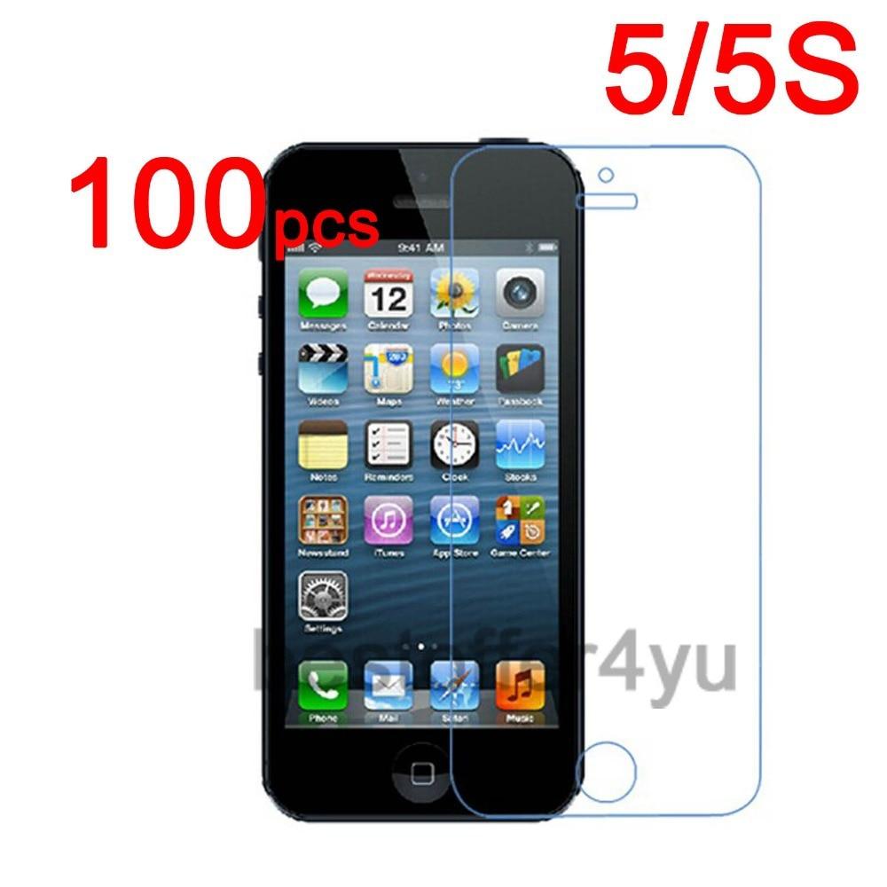 imágenes para 100 unids/lote Anti-cero CLARO Protector de Pantalla Protector de la Cubierta Para Apple iphone 5 5G 5S Film + 100 unids Paño de Limpieza + de seguimiento