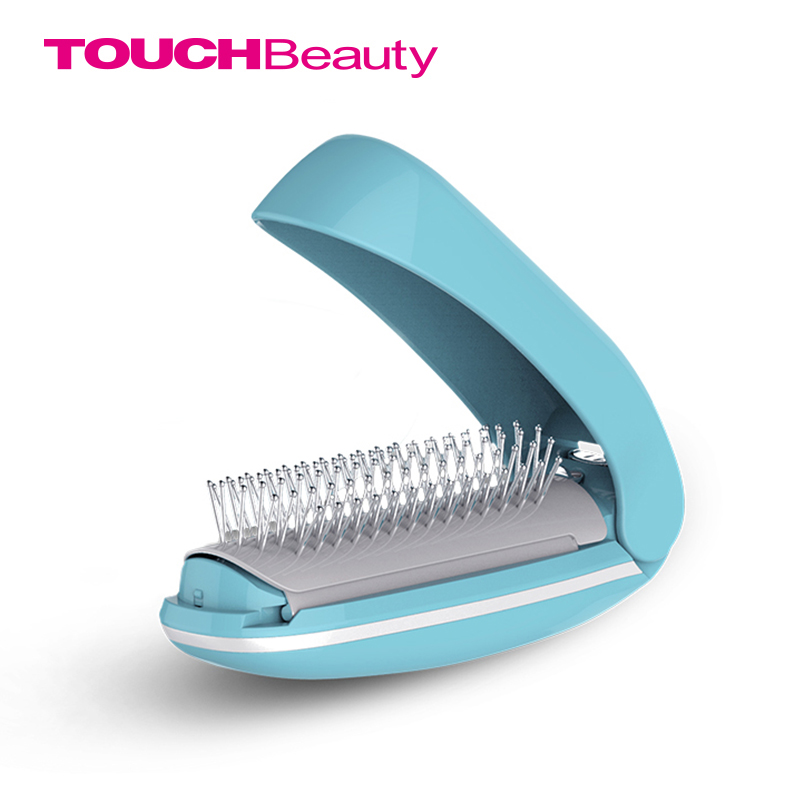 TOUCHBeauty High Frequency Vibration Scalp Massagers for Hair Growth, Foldable Detangling Hair Brush Mirror, Magic Brush TB-1178