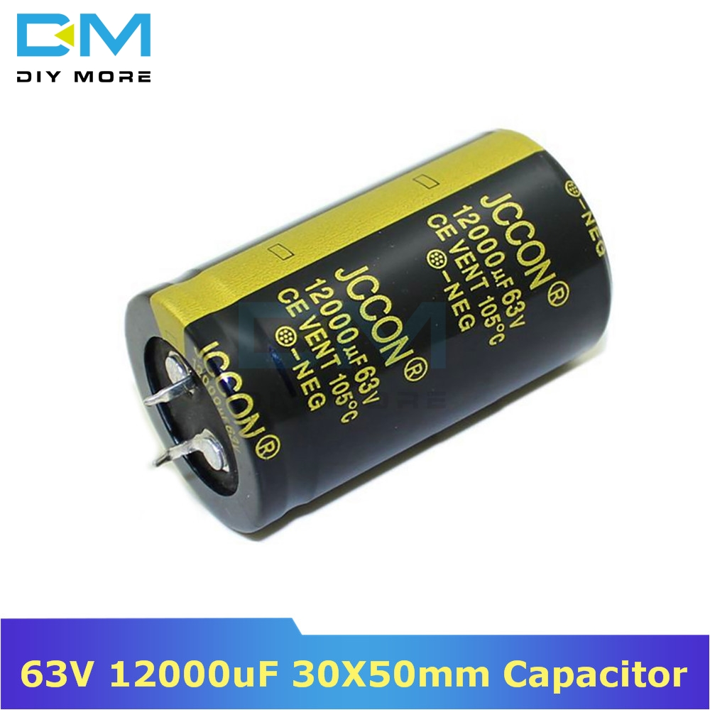 63V 12000uF 30X50mm 30X50 Aluminum Electrolytic Capacitor High Frequency Low Impedance Through Hole Capacitor 30*50mm Diymore