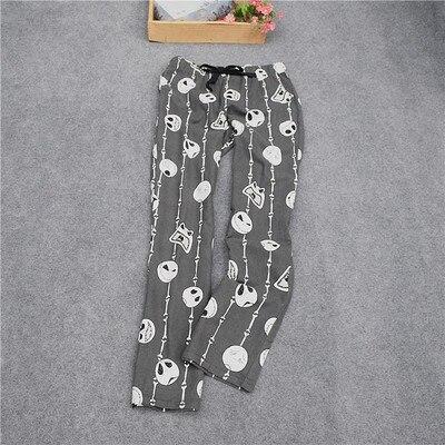 Женские брюки; длинные брюки; тканые хлопковые брюки для сна; женские брюки - Цвет: White head doll