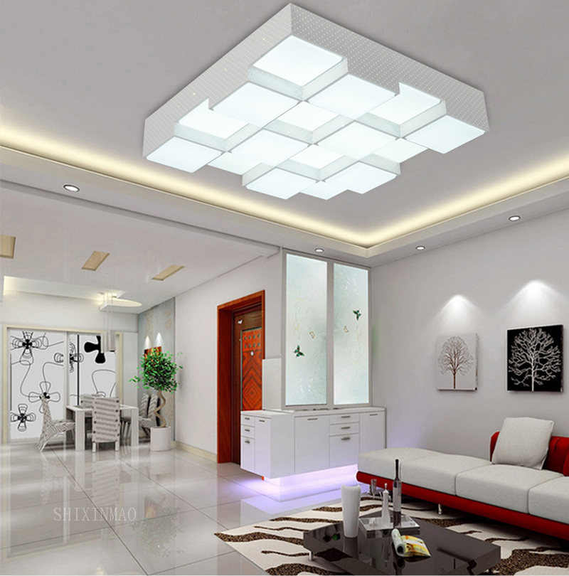 LED Acrylic Cube Ceiling Lamp Home Living Room Bedroom Study Lamp Business Place Interior Lighting Ceiling Light AC110-240V wholesale factory price retro copper lighting led ceiling light for home bedroom study dining room lamp