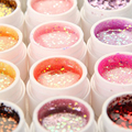 36PCS Fashion Nail Art UV Gel Polish Glitter For Acrylic Decorations For Nails Glitter Polish Nail Tools