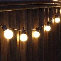 Thrisdar 8M 13M 18M G50 Globe Ball Festoon LED String Light Outdoor Patio Backyard Pergola Cafe Gazebo Bistro Garland Light