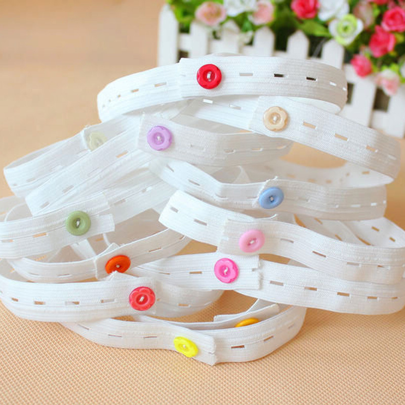 6Pcs High Elastic Baby Nappy Fixed Belt Adjustable Button Diaper Changing Fixed Band Nappy Fastener Holder Clip B2