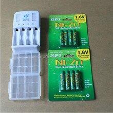 Бесплатная доставка 8PcsNi-Zn NiZn1.6V AAA1000mWh Аккумуляторная Powergenix Батарея + 1 шт. aa/aaa Зарядное Устройство + 2 шт. коробка для хранения