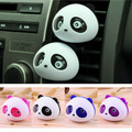 Car Styling Air Freshener 1 Set Car Air Conditioning Vent Perfume Panda Eyes Will Jump 5 Colors Parfume HA10660