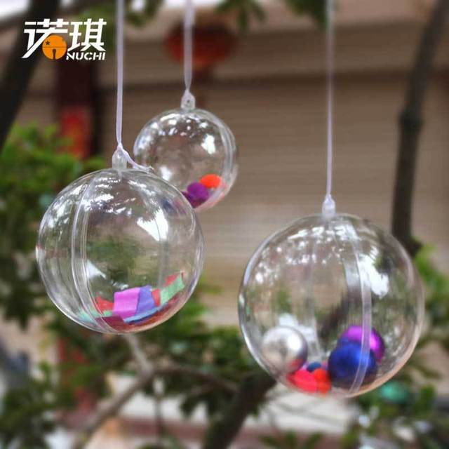 christmas decorations clear christmas ornaments plastic transparent ball adornos navidad bauble christmas pcslot