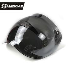 Cuirassier VS01 Open Face Motorcycle Helmet Bubble Visor Lens Motorbike Glasses for Harley & Jet Helmet Sunglasses 10 Color недорого