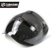 Corazziere VS01 Aperto Viso Casco Del Motociclo Bubble Shield Visor Lens Moto Occhiali per Harley & Jet Casco Occhiali Da Sole 10 di Colore