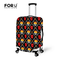 Waterproof Luggage Protective Dust Cover,Elastic Skull Design Travel Luggage Cover Dust proof Protective Suitcase Zipper Cover