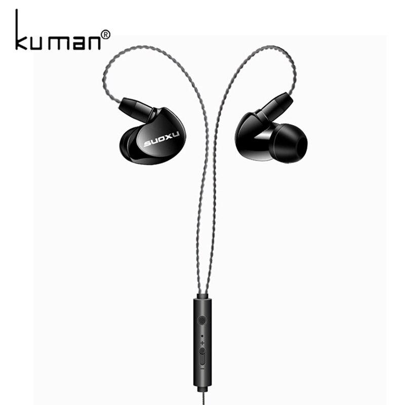 Kuman Sports Headphone Ear Hook Headset Bass In Ear Earphone Earbuds With Microphone For Xiaomi Mp3 Phone PC Gaming YL-HW11
