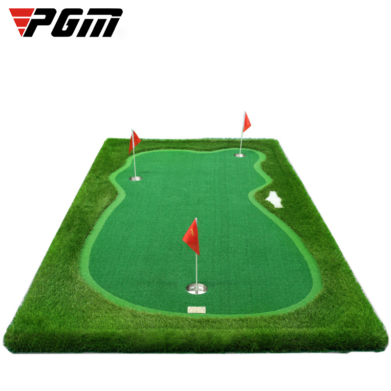 CRESTGOLF 3.3ft*9.84ft Indoor Golf Putting Green Trainer Golf Putting Mat Artificial Turf Golf Putting Training Aids Equipment