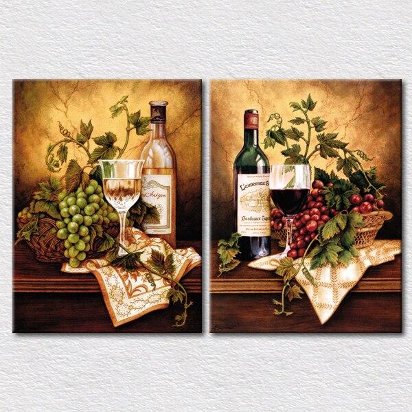 Wanddecoratie Canvas Keuken.Us 17 0 Verse Vruchten En Wijn Canvas Foto Voor Keuken Wanddecoratie 2 Panelen Canvas Arts Afbeelding Hoge Kwaliteit In Schilderij Schoonschrift
