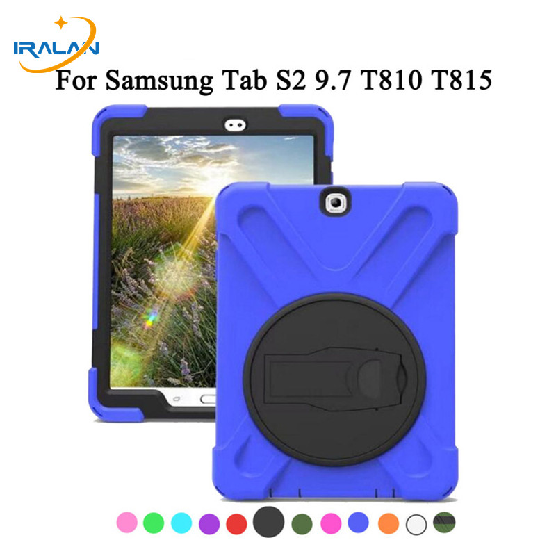 Back-Case Galaxy Tab Samsung T810 Stand-Cover Shockproof Silicon-Rubber Heavy-Duty T813