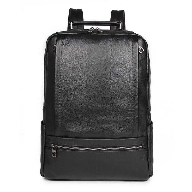 Sac à dos en cuir véritable pour hommes pochette d'ordinateur de grande capacité sac à dos d'école en cuir pour hommes sacs à dos de voyage 7356A