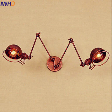 IWHD Antique Eidson LED Wall Light Fixtures Wandlamp Swing Long Arm Wall Lights Vintage Industrial Wall Sconce Lampara Pared iwhd antique eidson led wall light fixtures wandlamp swing long arm wall lights vintage industrial wall sconce lampara pared