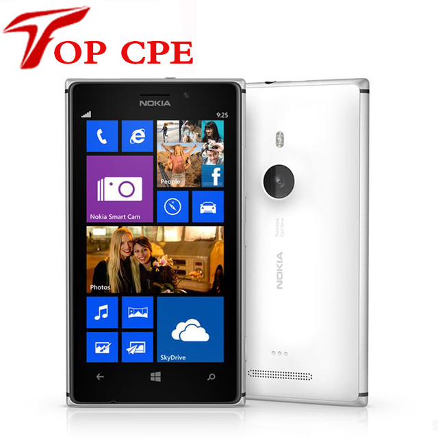 Nokia lumia 925 reformado teléfono original de windows mobile 4.5 ''8mp wifi gps 3g y 4g gsm 16 gb de almacenamiento interno 1 año de garantía