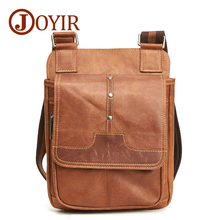 JOYIR Men's Bags Genuine Leather Male Crossbody Bags Strap Casual Flap Men Leather Messenger Bag Men Shoulder Bag Handbags 6361 цена в Москве и Питере