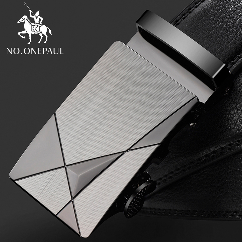 NO.ONEPAUL Trap Male Automatic Buckle Belts For Men Authentic Girdle Trend Men's Belts Ceinture Fashion Designer Fashion Leather